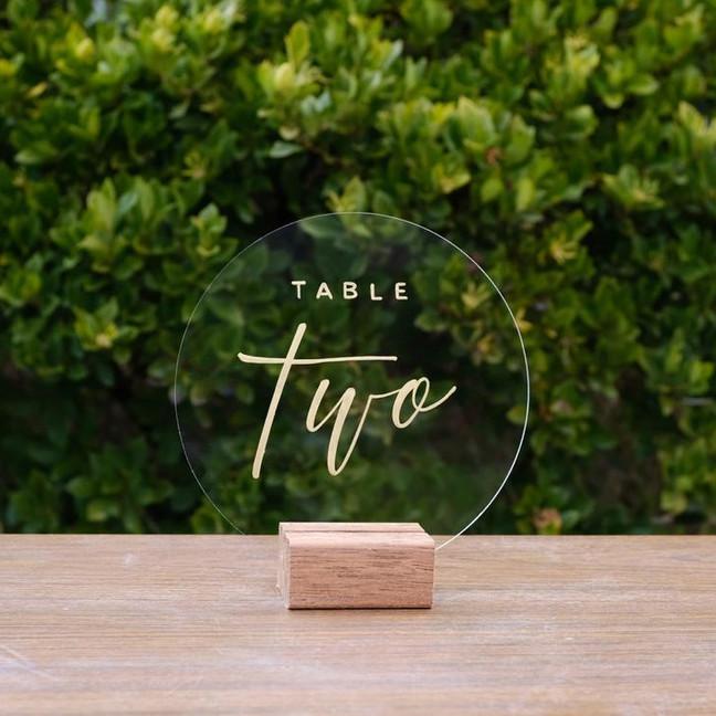 Номерок для стола