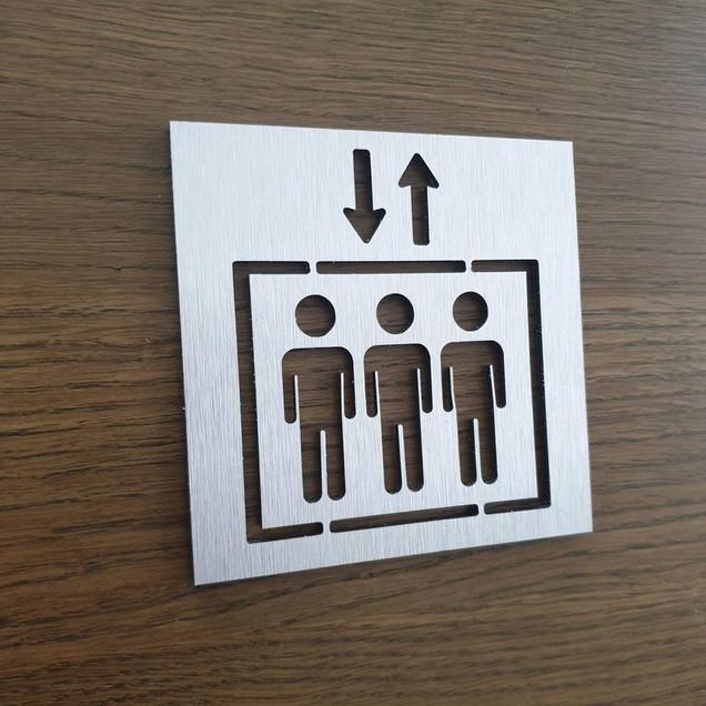Табличка Лифт из аллюминия