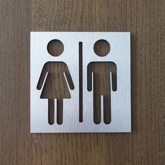 Табличка Туалеты М-Ж из аллюминия
