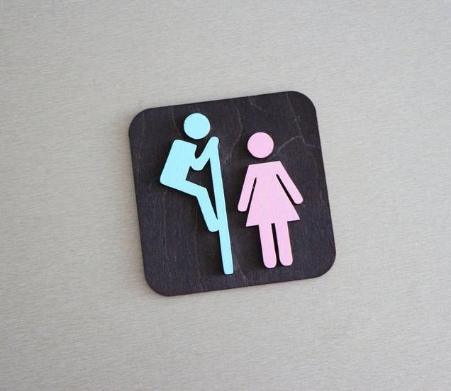 Указатель совместного туалета