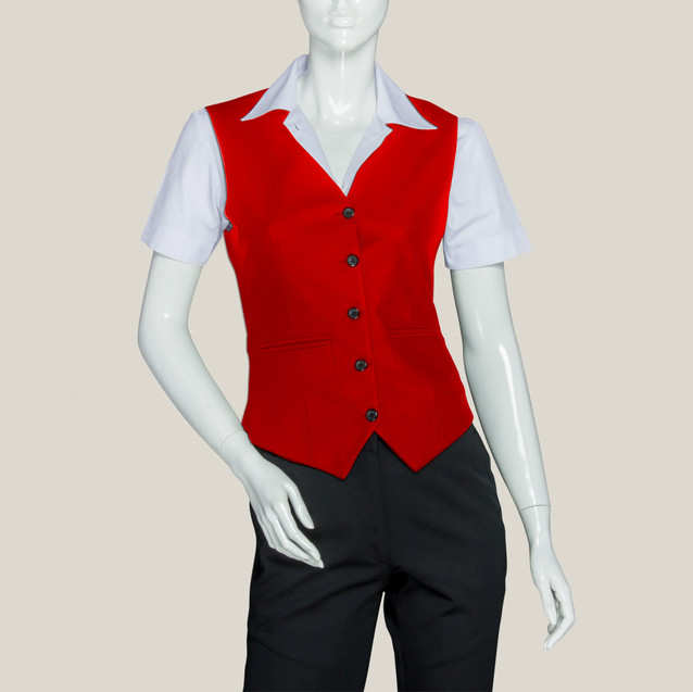 Жакет красный официанта