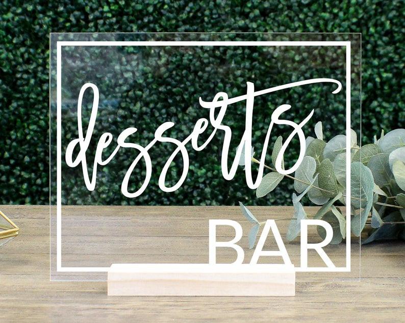 Табличка Десерт бар