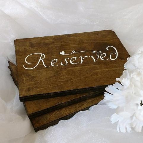 Фанерная табличка резерв