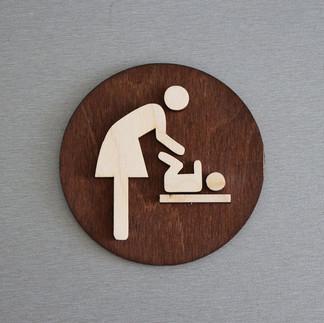 Табличка указатель Комната матери и ребенка