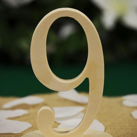Номер стола из фанеры
