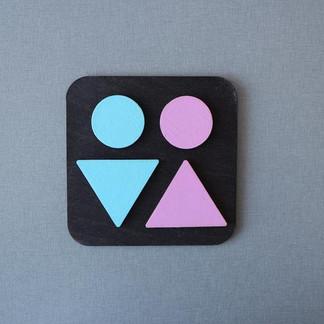 Минималистичная табличка Туалет