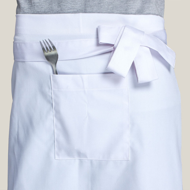 Передник официанта белый