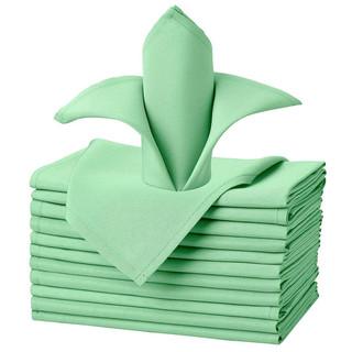 Салфетки зеленые однотонные