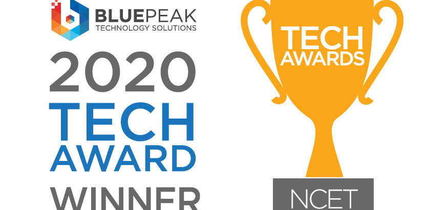 BluePeak Honored as NCET's 2020 IT Support Company of the Year.