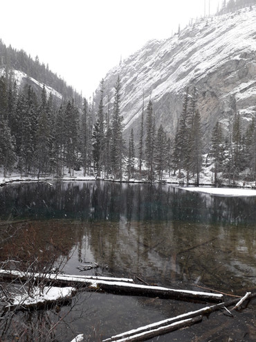 Grassi Lake in Winter