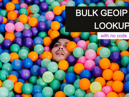 Bulk GEOIP Lookup With No Code
