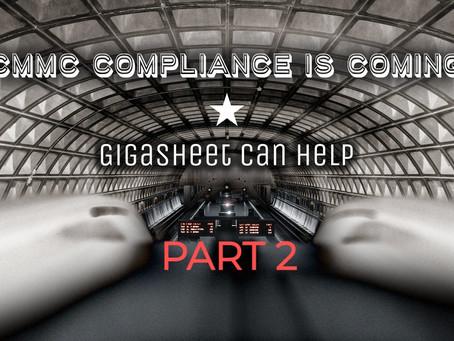 CMMC Compliance with Gigasheet: Part 2