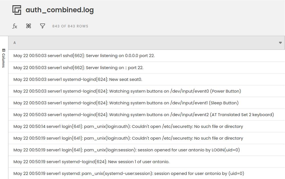 auth.log Password Spray Analysis