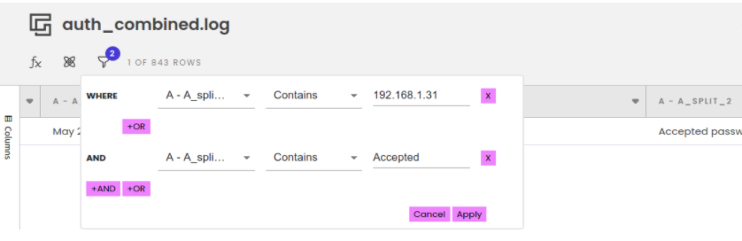 Accepted ssh auth.log connections