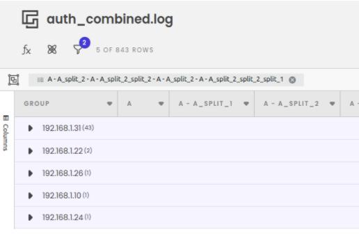 auth.log ssh password spray analysis