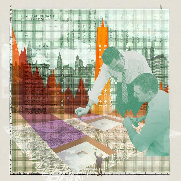 911 Memorial Construction Illustration