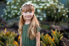 professional model photography brisbane: portfolio photoshoot of young girl with pig tails