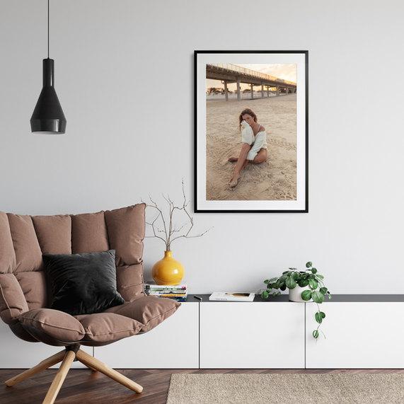 professional model photographer gold coast: framed print product of modeling portfolio