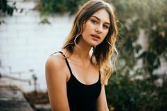 professional model photography brisbane: portfolio photoshoot of female wearing black singlet top