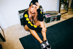 professional fashion photographer sunshine coast: lifestyle photoshoot of female wearing grunge outfit