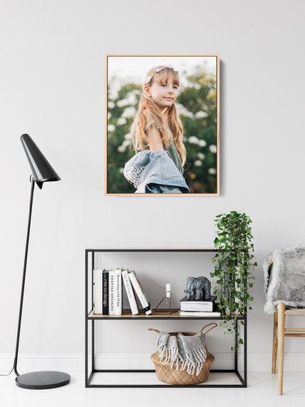 professional model photographer brisbane: framed canvas product of modeling portfolio