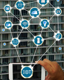 Internet of things (IOT) concept _ Hand