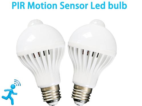 LED PIR Motion Sensor Lamp (E27 100-240V 7W)