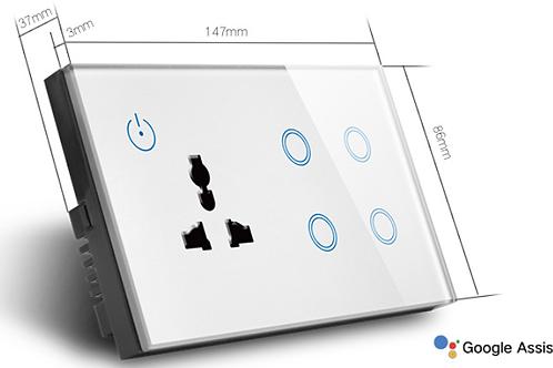 WIFI smart wall Socket with 4 Gang 600W