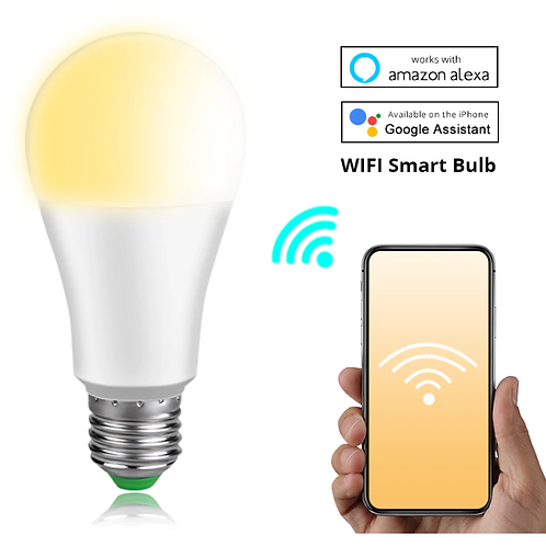 Dimmable 15W E27 WiFi Smart Light Bulb