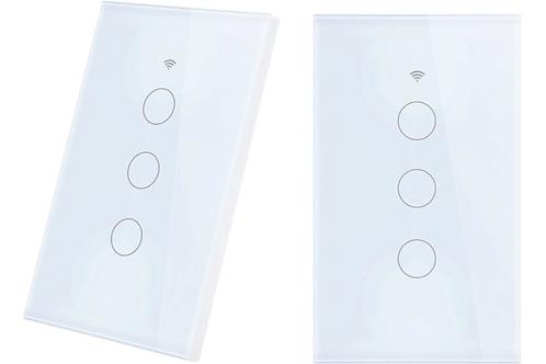 EU Standard 1 Way Wifi Remote Control Type Wall Light Controller ( 3 gang)
