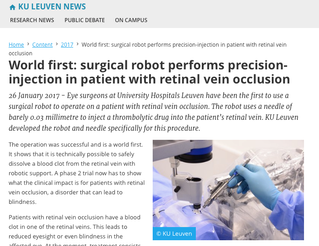 Robotic eye surgeons?