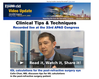 Dr. Colin Chan interviewed by Eyeworld on cataract surgery after LASIK calculations
