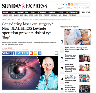 What's new in laser eye surgery?               It's Keyhole