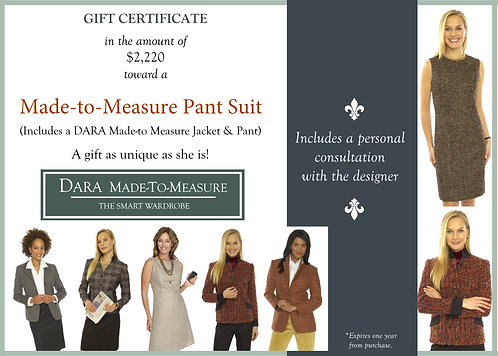 Gift Certificate-DARA Made to Measure Pant Suit