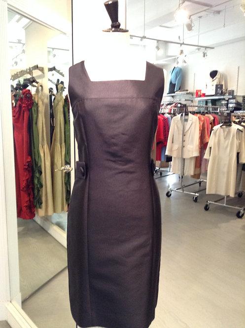 Square Neck Sheath Dress w/ Side Tabs