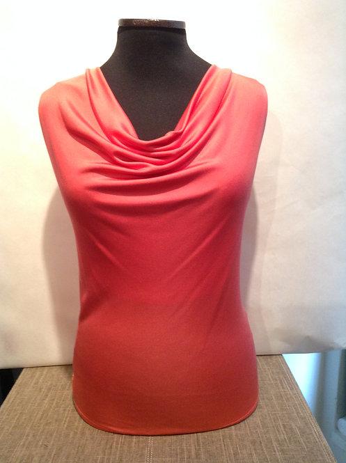 Luxury Silk Jersey Cowl Neck Sleeveless Blouse