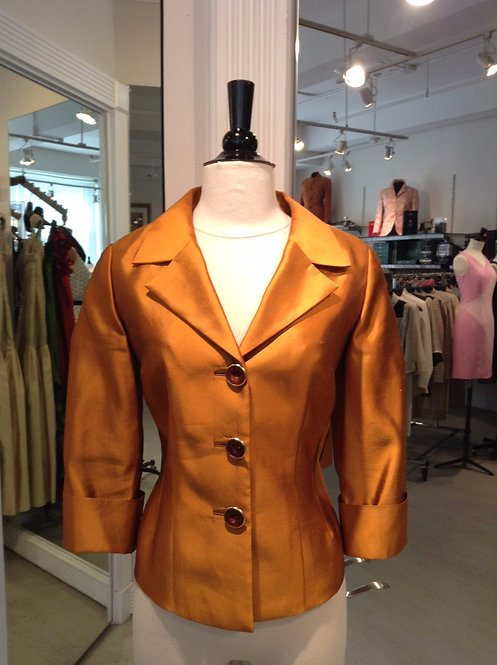 Notched Collar 3 Button Softly Tailored Jacket