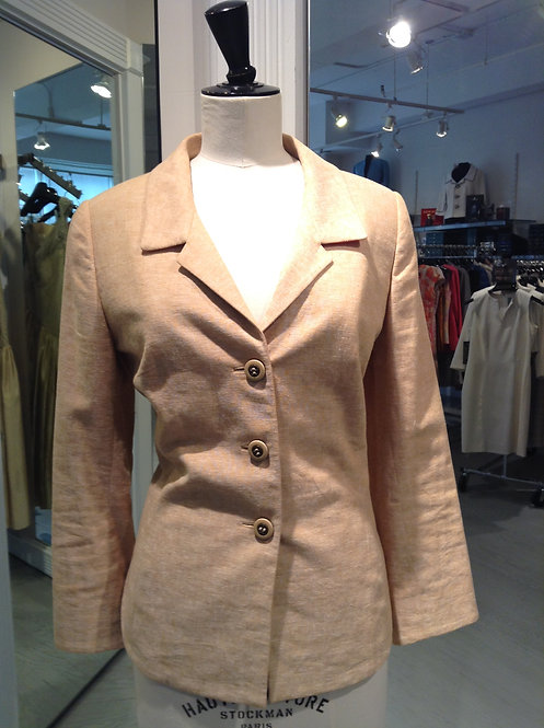 Notched Collar 3 Button Jacket