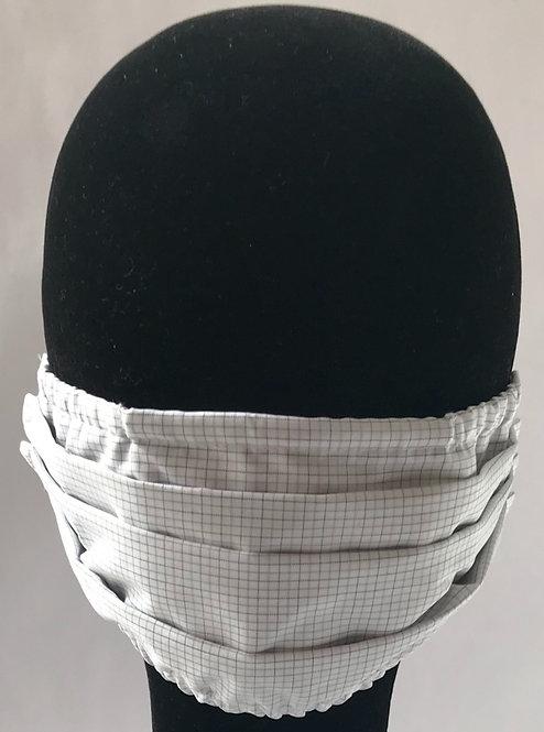 Grey Check 100% Cotton Mask w/Filter Pocket