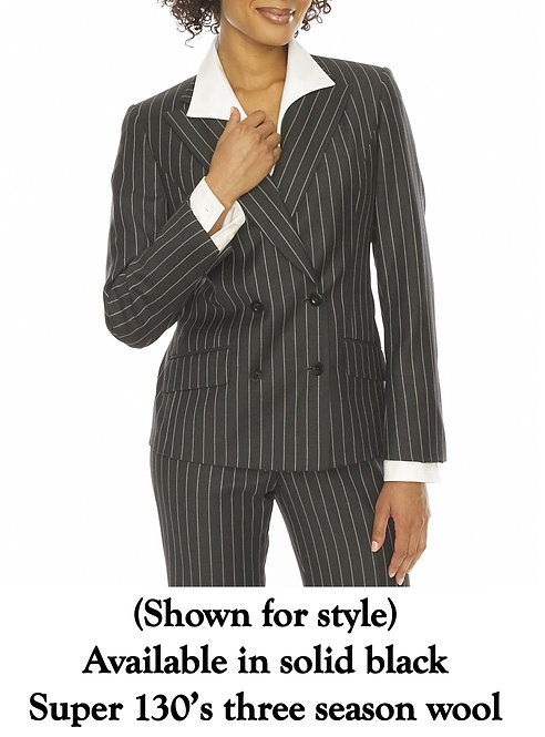 Peak Lapel Double Breasted Jacket - Regularly $1295, NOW