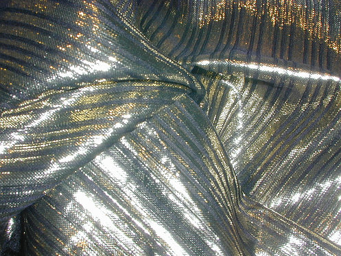 Black/Gold Striped Silk Lurex-S390