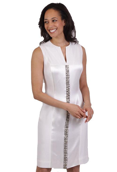 Slit Neck Sheath Dress