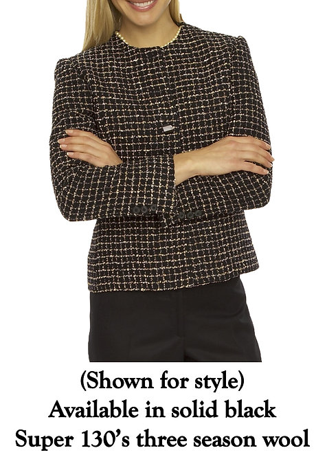 Jewel Neck 5 Button Jacket - Regularly $1295, NOW