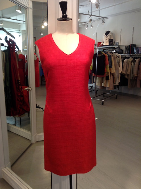 V-Neck Sheath Dress w/ French Dart Detail
