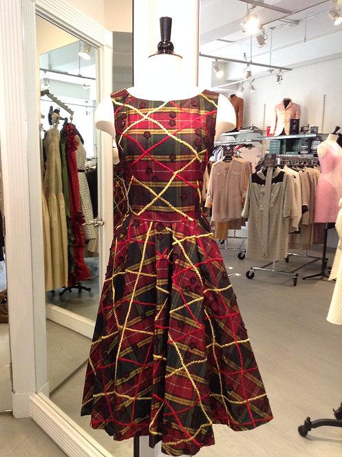 Boatneck Flare Dress