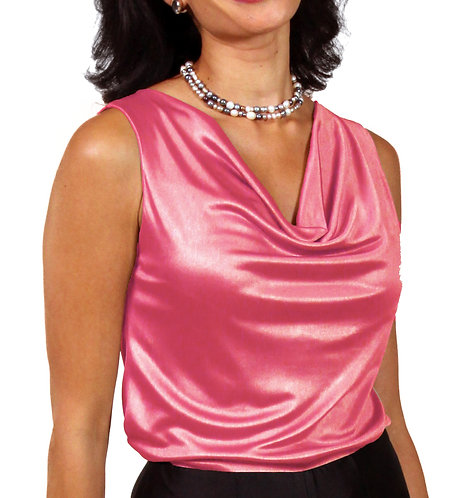 Cowl Neck - Shocking Pink