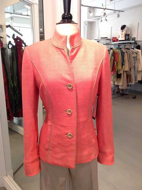 Stand Collar 3 Button Jacket