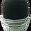 Thumbnail: Bright Green/Blue Stripe 100% Cotton Mask w/Filter Pocket