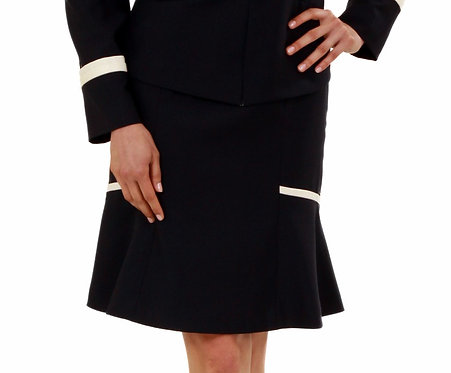 Paneled Skirt w/ Flared Panels & Trim