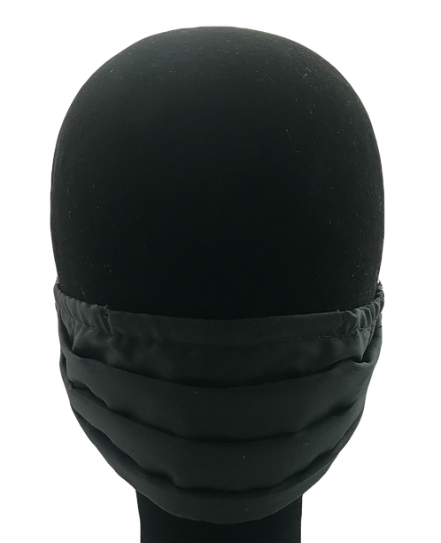 Black 100% Cotton Mask w/Filter Pocket